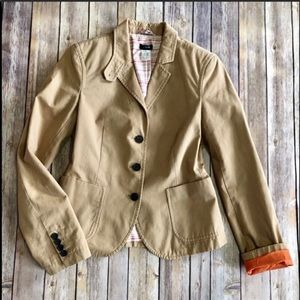 J. Crew Tan Blazer Size Medium